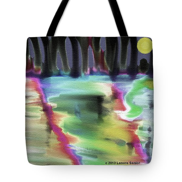 Reflections At Midnight Tote Bag by Lenore Senior