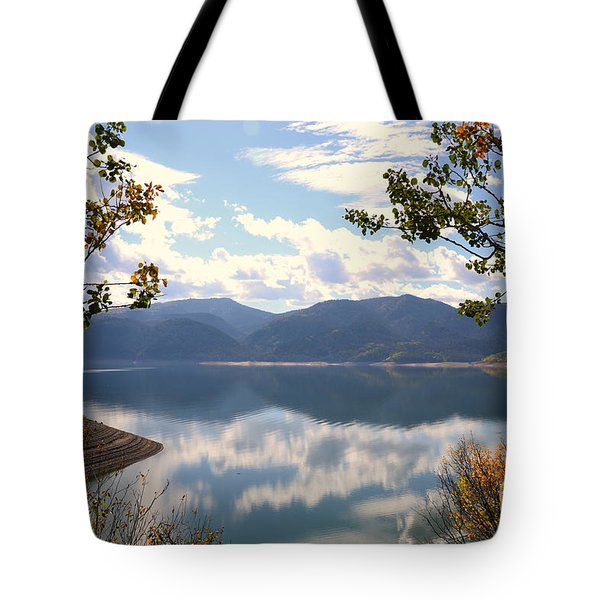 Tote Bag featuring the photograph Reflections At Palisades by Dorrene BrownButterfield
