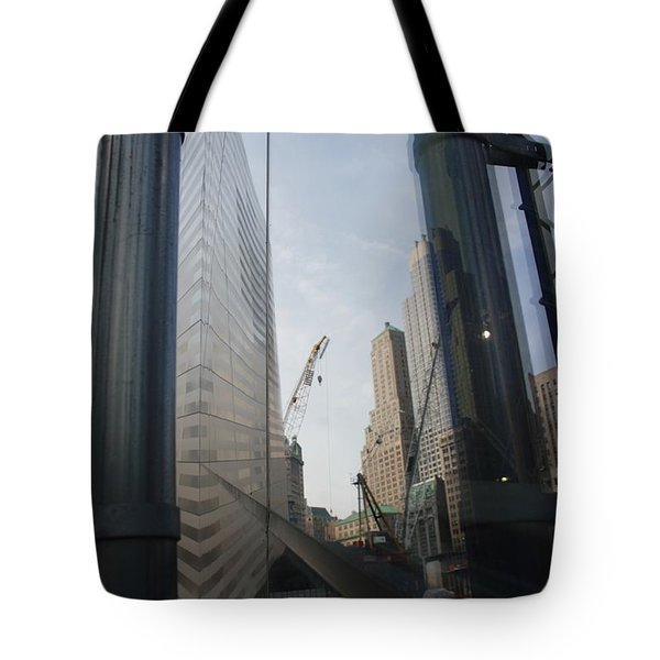 Reflections At The 9/11 Museum Tote Bag by Rob Hans