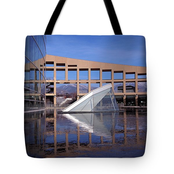 Reflections At The Library Tote Bag by Rona Black