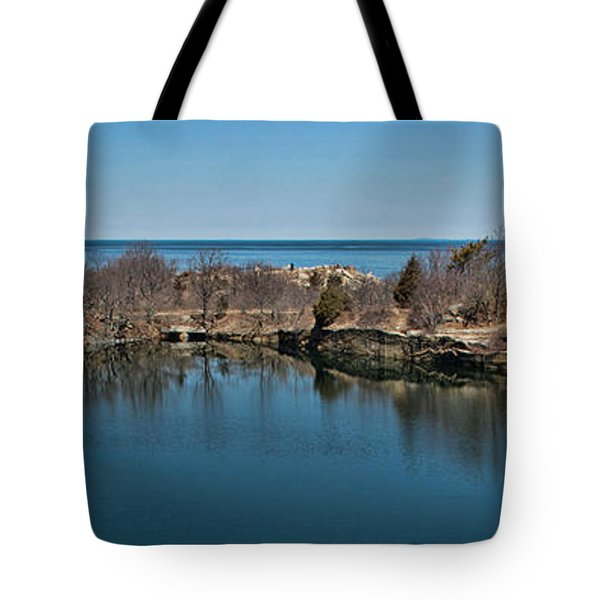 Reflections At The Quarry Tote Bag