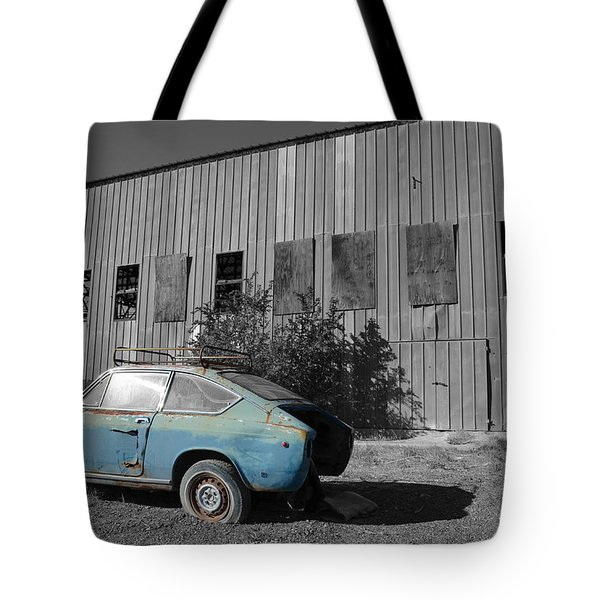 Reflections In Black And White Tote Bag