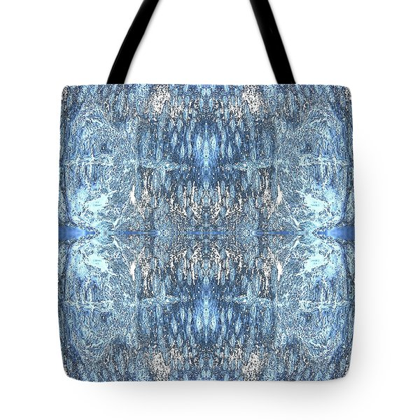 Tote Bag featuring the digital art Reflections In Blue by Stephanie Grant
