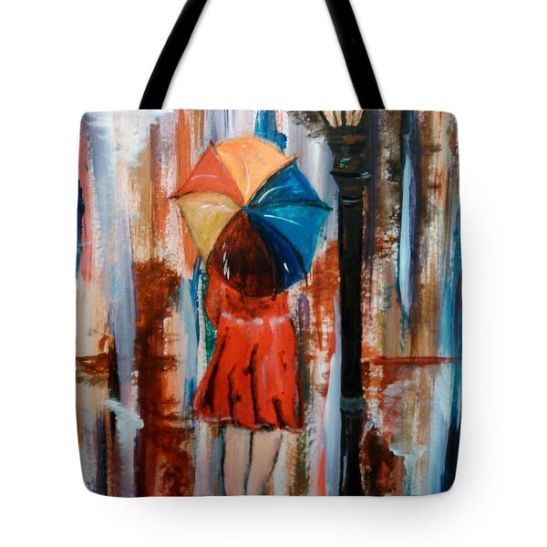 Tote Bag featuring the painting Reflections  by Lori  Lovetere
