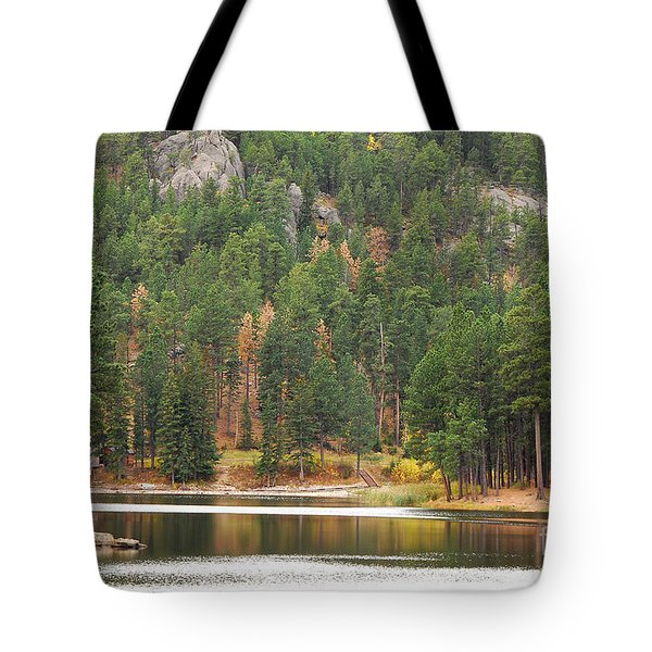 Tote Bag featuring the photograph Reflections by Mary Carol Story