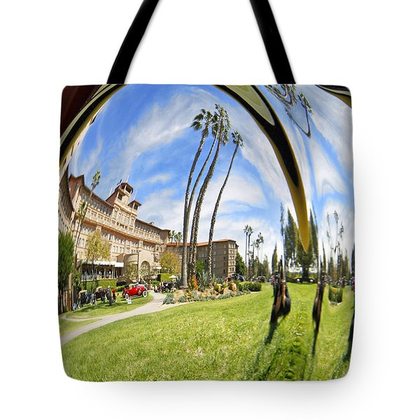 Tote Bag featuring the pyrography Reflections Of A 1937 Cord by Shoal Hollingsworth