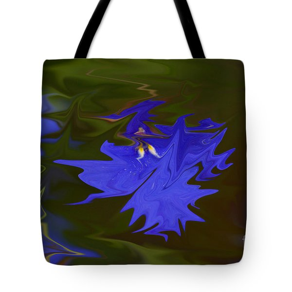 Reflections Of A Flower Tote Bag by Carol Lynch