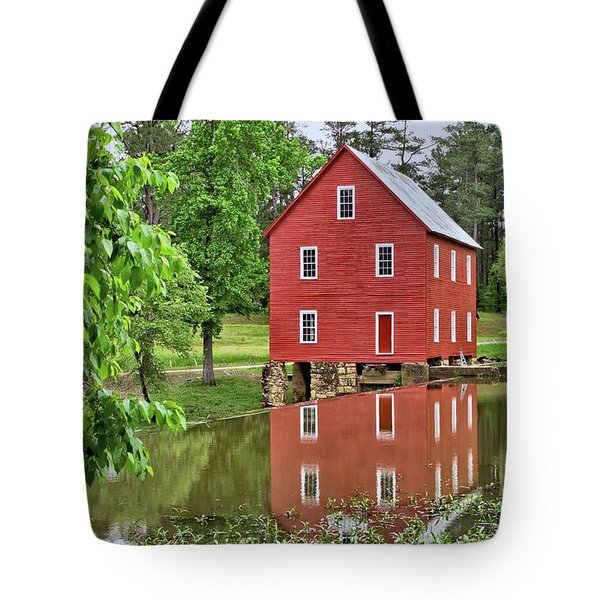 Reflections Of A Retired Grist Mill Tote Bag by Gordon Elwell