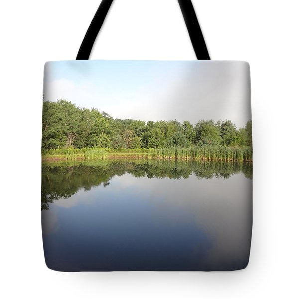 Reflections Of A Still Pond Tote Bag by Michael Porchik