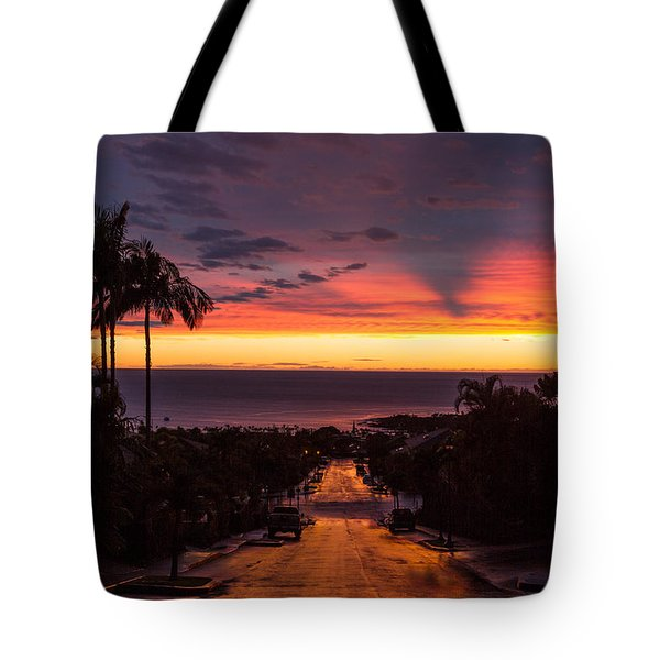 Sunset After Rain Tote Bag by Denise Bird