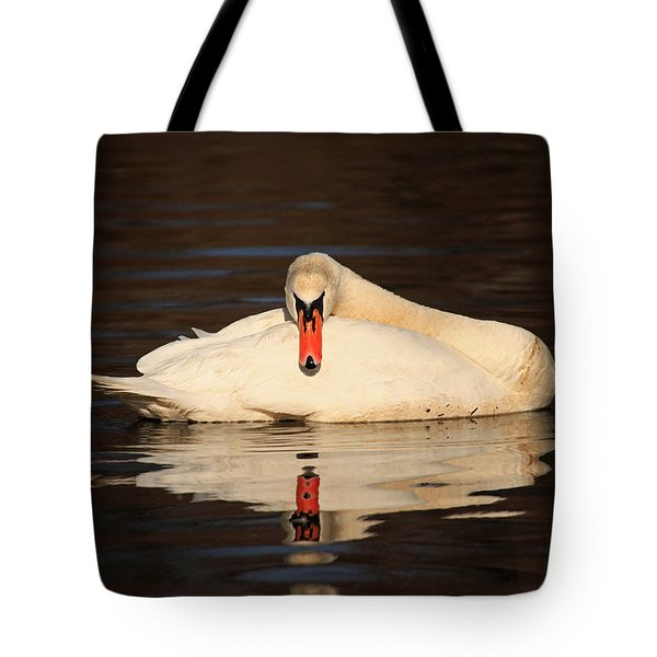 Reflections Of A Swan Tote Bag by Karol Livote