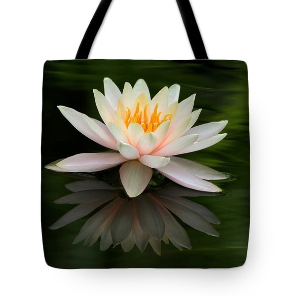 Tote Bag featuring the photograph Reflections Of A Water Lily by Sabrina L Ryan