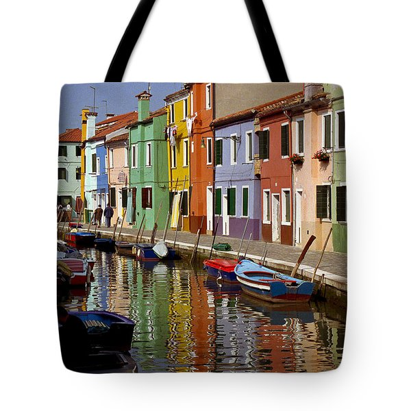Reflections Of Burano Tote Bag