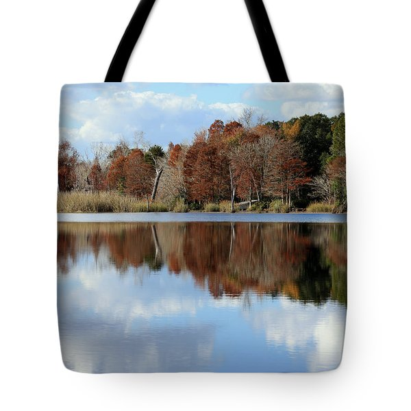 Tote Bag featuring the photograph Reflections Of Color by Debra Forand