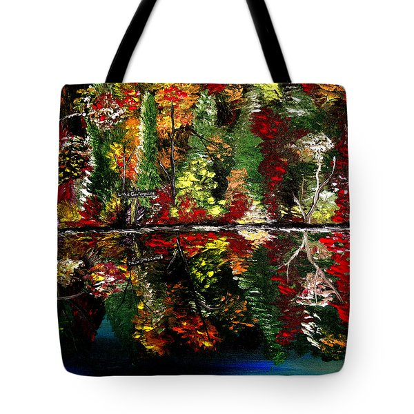 Reflections Of Fall Tote Bag by Mark Moore