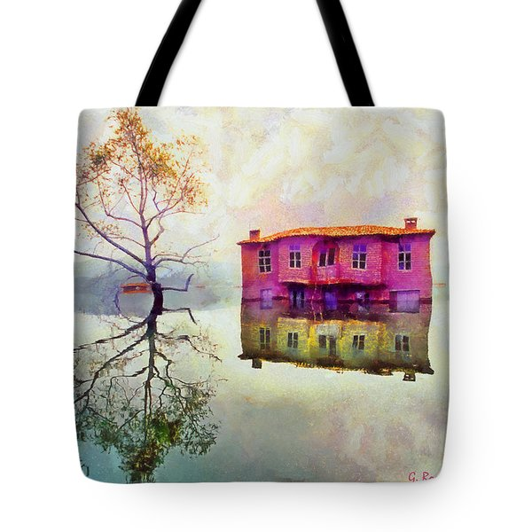 Reflections Of Illusions Tote Bag by George Rossidis