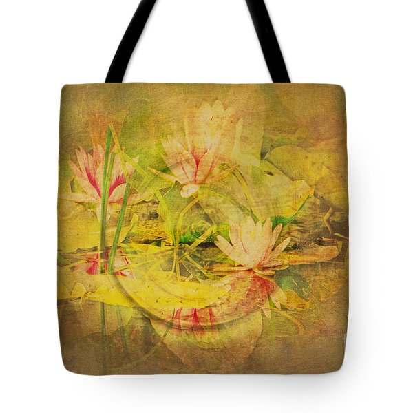 Tote Bag featuring the photograph Reflections Of Monet's Lilies by MaryJane Armstrong