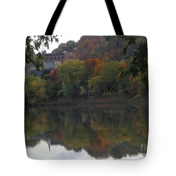 Reflections Of Pittston Tote Bag