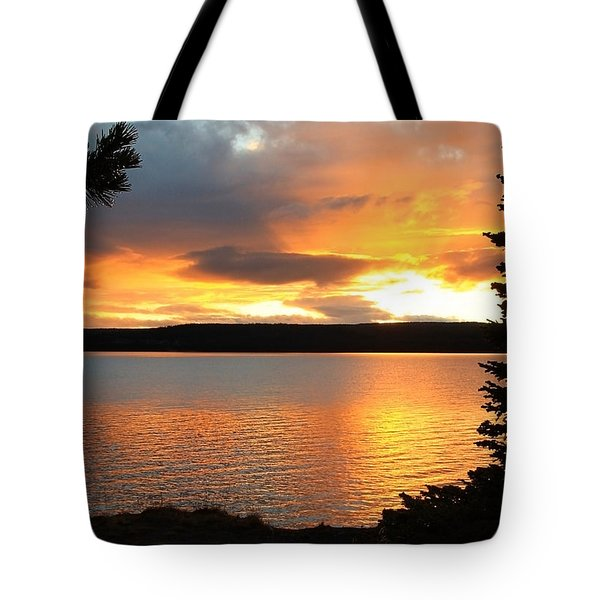 Tote Bag featuring the photograph Reflections Of Sunset by Athena Mckinzie