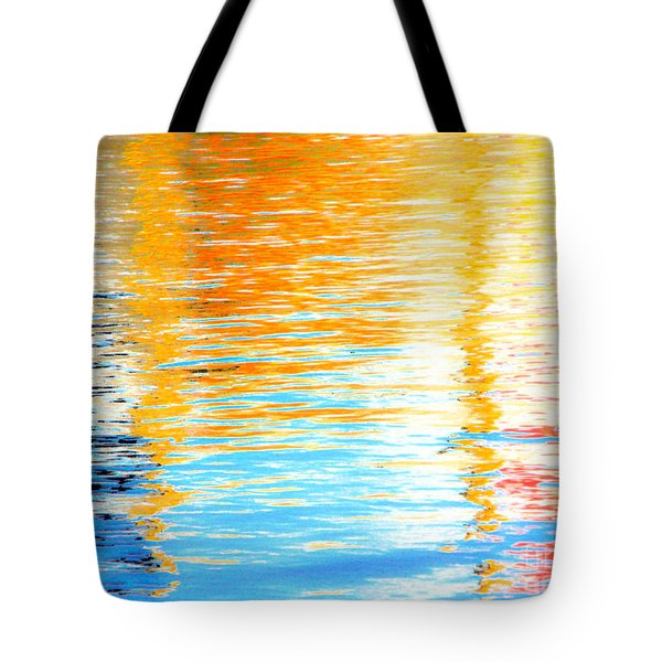 Reflections Of The Setting Sun Tote Bag