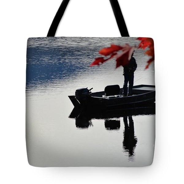 Reflections On Fishing Tote Bag