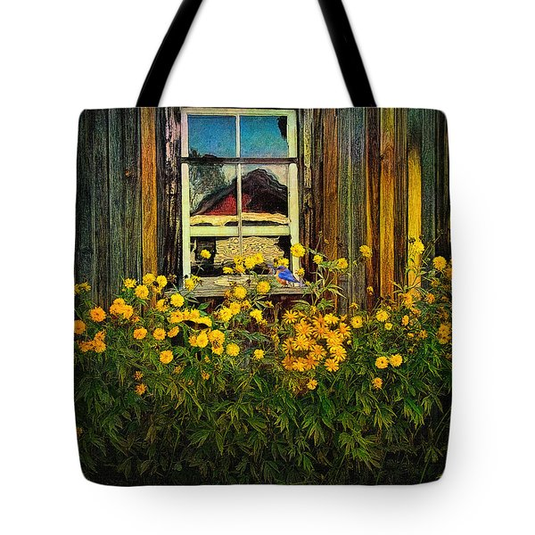 Reflections On Happiness Tote Bag by Lianne Schneider