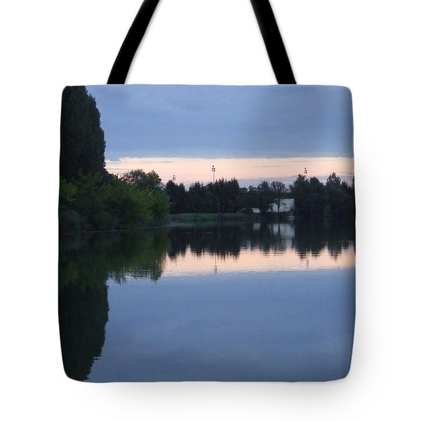 Reflections On La Saone Tote Bag