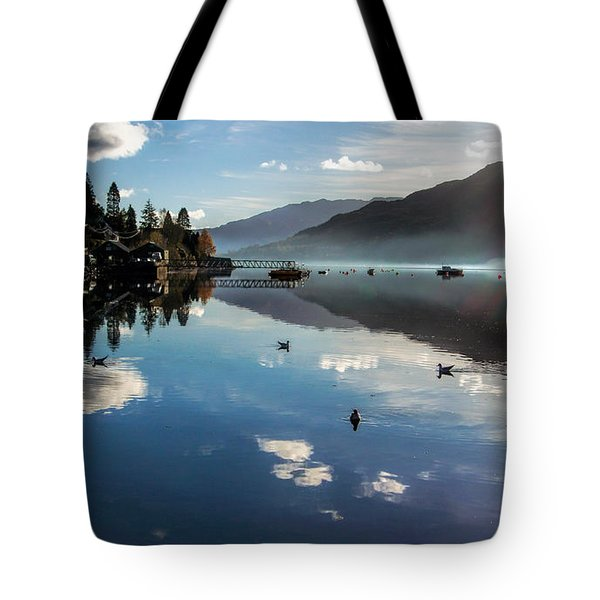 Reflections On Loch Goil Scotland Tote Bag