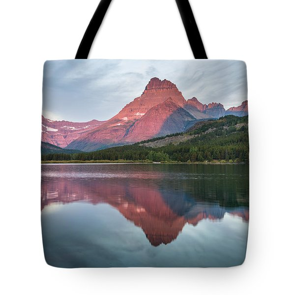 Reflections On Swiftcurrent Dawn Tote Bag