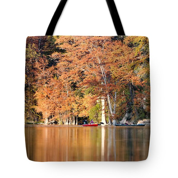 Reflections On The Frio River IIi Tote Bag