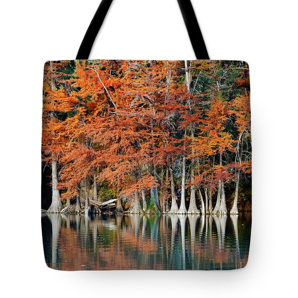 Reflections On The Frio River - Garner State Park - Texas Hill Country Tote Bag