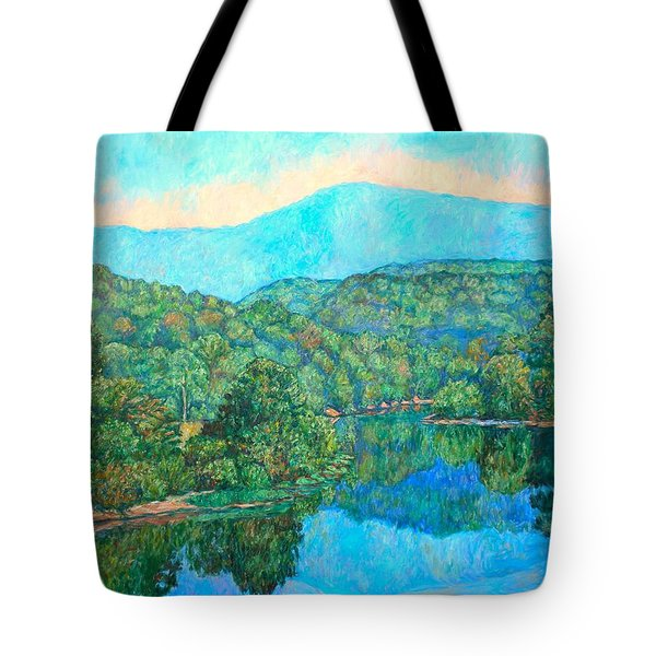 Reflections On The James River Tote Bag by Kendall Kessler