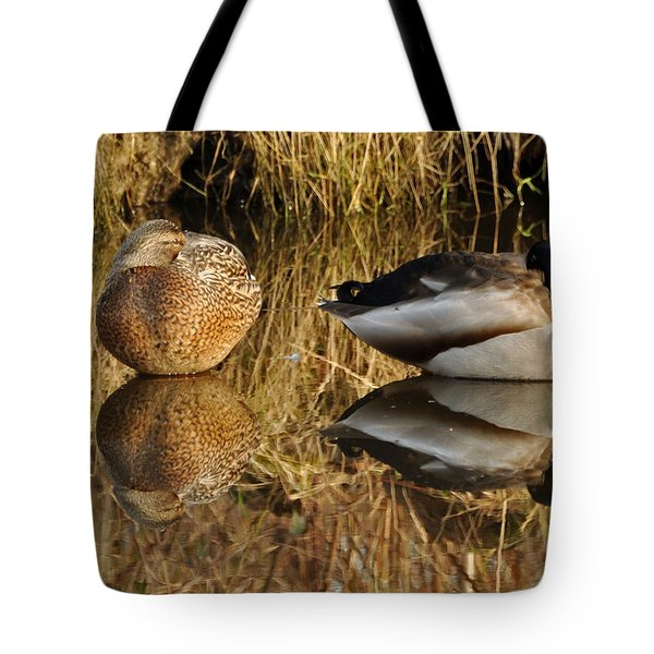 Tote Bag featuring the photograph Reflections by Sabine Edrissi