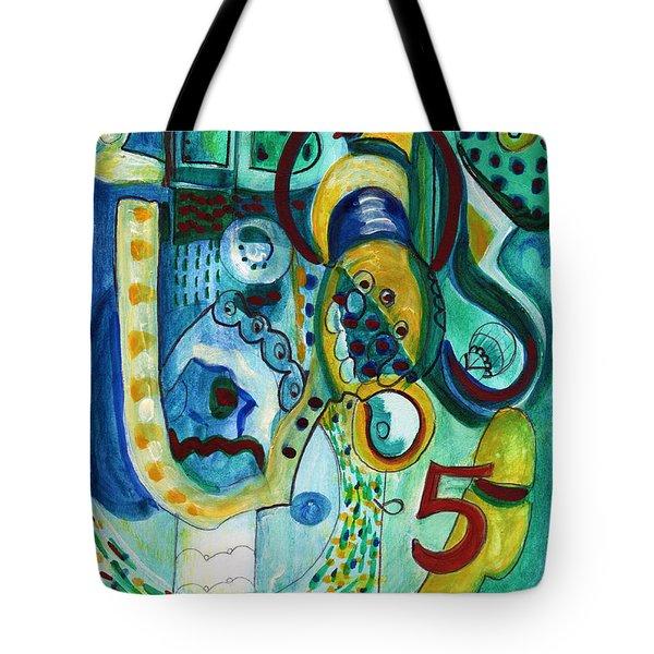 Reflective #5 Tote Bag