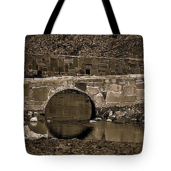 Tote Bag featuring the photograph Reflective Bridge by Tara Potts