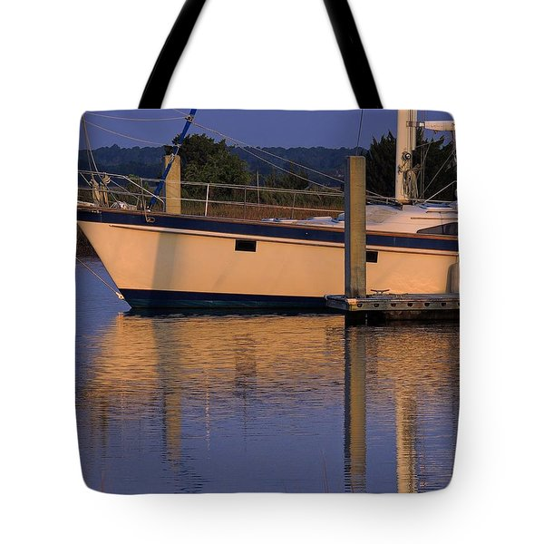 Tote Bag featuring the photograph Reflective Mood by Laura Ragland