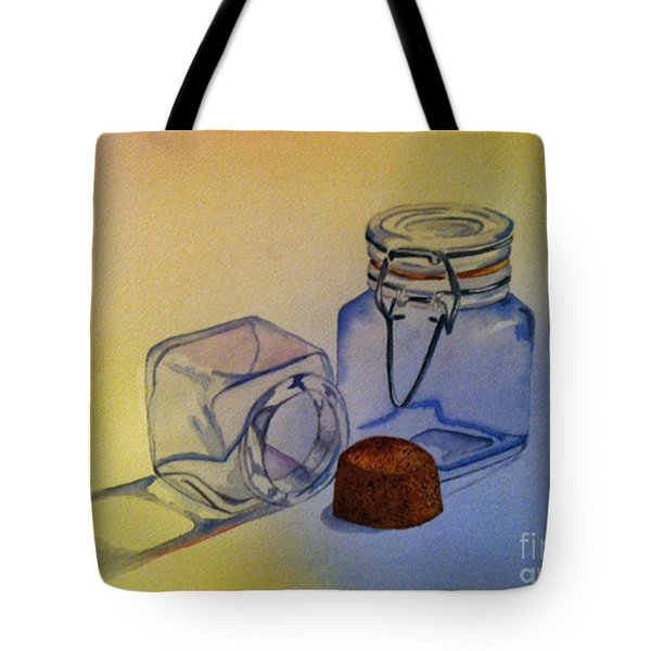Reflective Still Life Jars Tote Bag