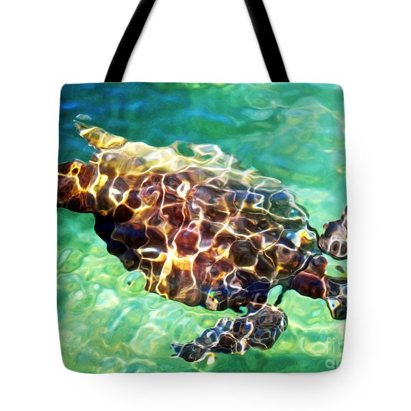 Tote Bag featuring the photograph Refractions - Nature's Abstract by David Lawson