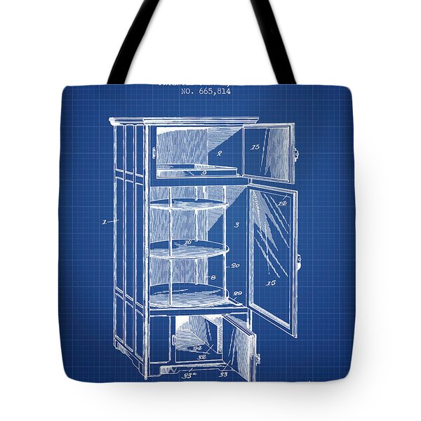 Refrigerator Patent From 1901 - Blueprint Tote Bag