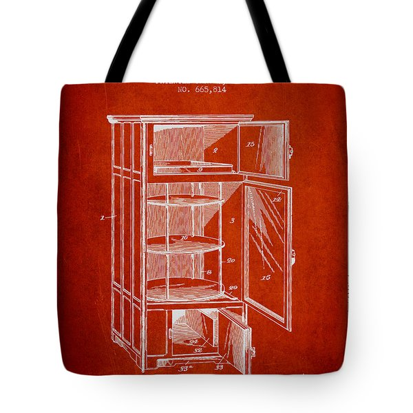 Refrigerator Patent From 1901 - Red Tote Bag