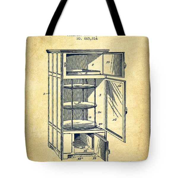 Refrigerator Patent From 1901 - Vintage Tote Bag