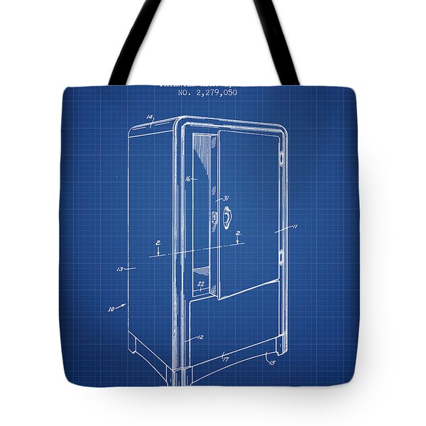 Refrigerator Patent From 1942 - Blueprint Tote Bag