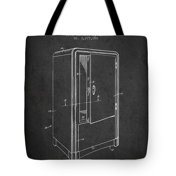 Refrigerator Patent From 1942 - Dark Tote Bag