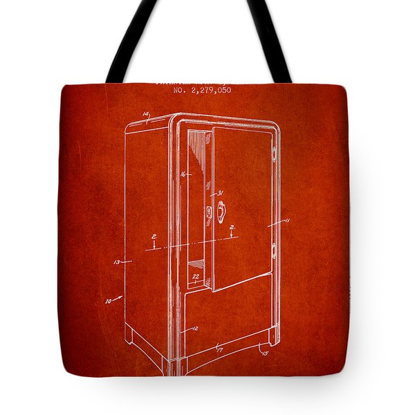 Refrigerator Patent From 1942 - Red Tote Bag
