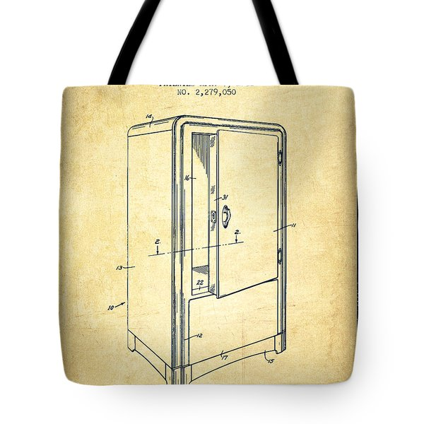 Refrigerator Patent From 1942 - Vintage Tote Bag