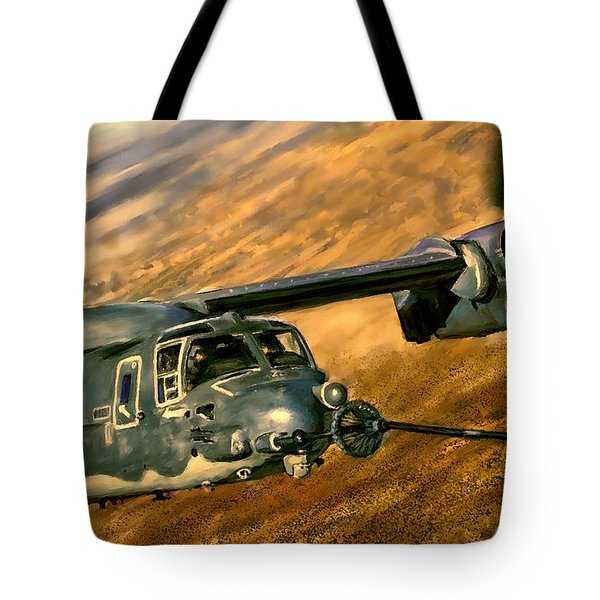 Refueling Tote Bag by Dave Luebbert