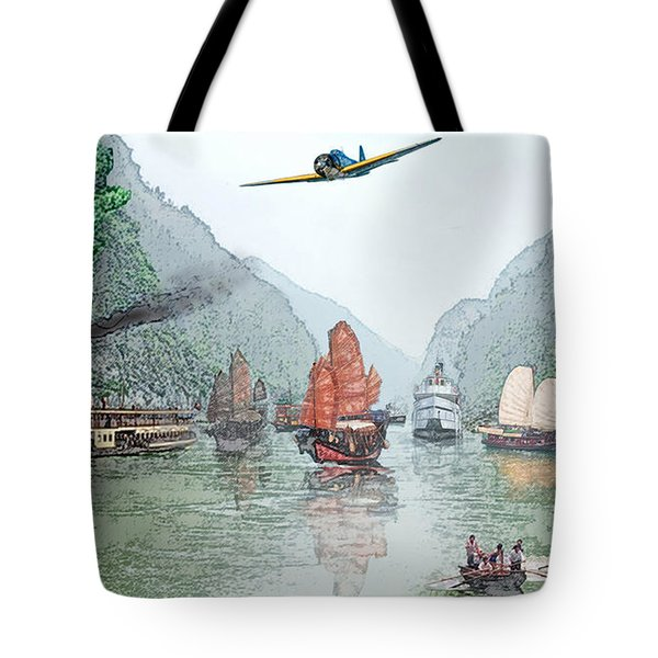 Refugees On The Yangtze Tote Bag