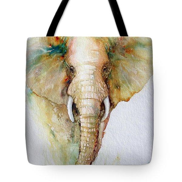 Regal Gold Elephant Tote Bag