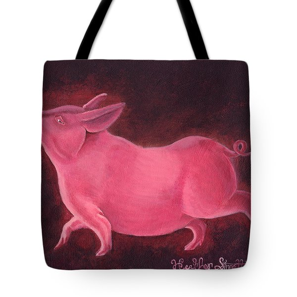 Regal Hog Tote Bag by Heather Stinnett