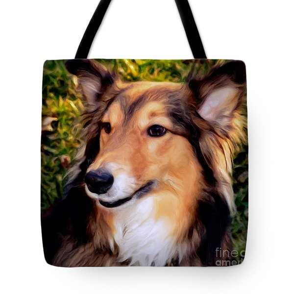 Dog - Collie - Regal Shelter Dog Tote Bag